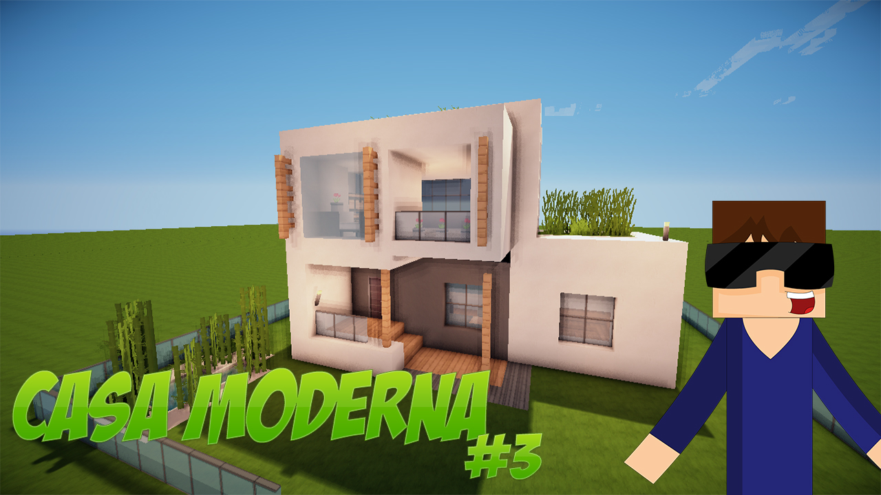 Pin casa moderna y grande soy manca en minecraft youtube for Tutorial casa moderna grande minecraft