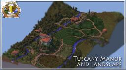 BdH Map 9 | Tuscany Manor and Landscape Minecraft