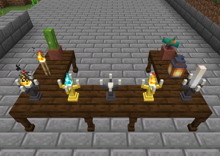 Candelabras with Light Sources
