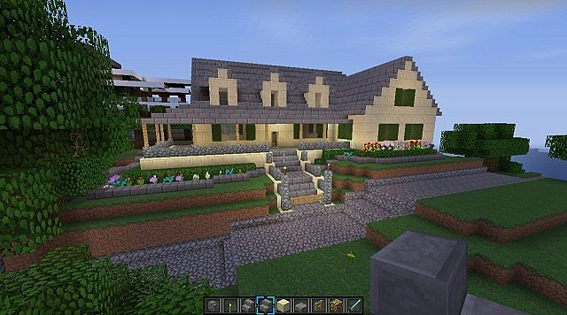 Lake House With Pool Minecraft Project