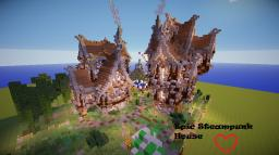Epic Double SteamPunk House Minecraft Map & Project