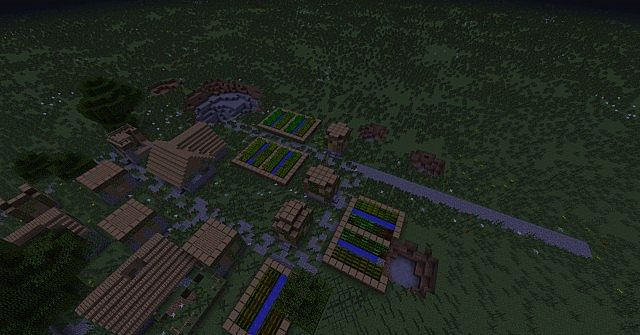 Abandoned Overgrown Village Minecraft Project