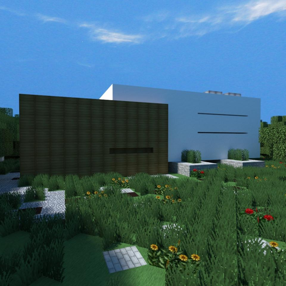 Sneak peek amongst nature compact minimalist house n 2 for Minimalist house minecraft