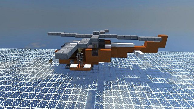 how to make a minecraft army helicopter