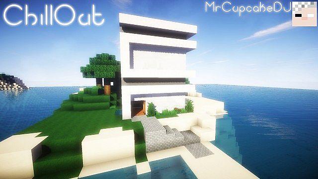 Chillout small modern house casa moderna peque a 10x10 for Casa moderna minecraft design