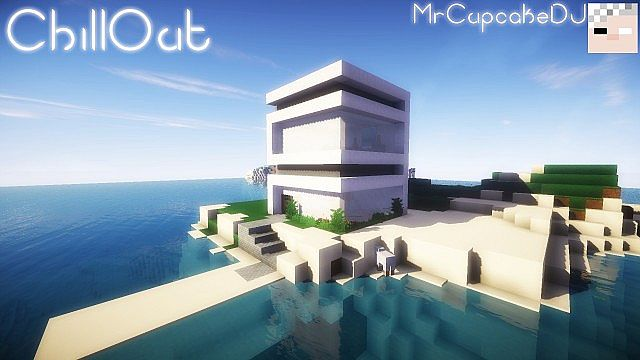 Chillout small modern house casa moderna peque a 10x10 for Casa moderna minecraft pe 0 10 5