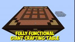 Fully Functional Giant Crafting Table -- Over 100 Working Recipes! Minecraft Map & Project