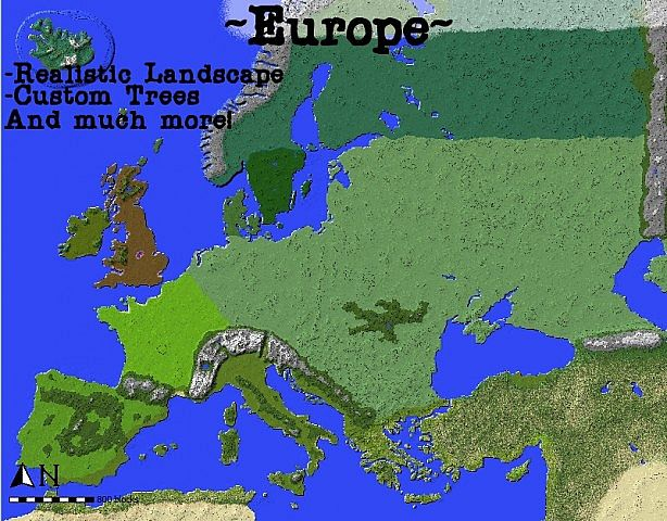 Map Of Europe Height Map 10 Done Minecraft Project
