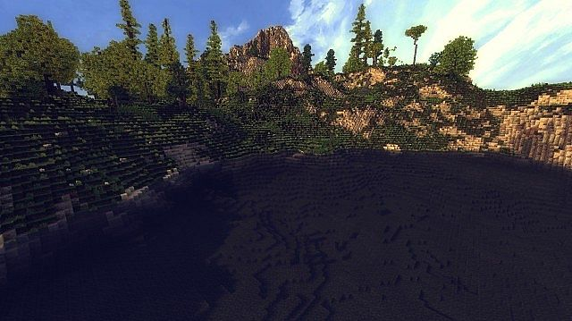 Cliff island worldpainter map minecraft project cliff island worldpainter map 3 diamonds sciox Image collections