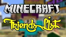 TheHub-MC Friends List Plugin | Join Friends In-Game | Invite friends to Games | Click and Drag/Drop Mechanics | Most user-friendly Friends list so far! Minecraft Project