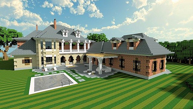 Luxury mansion minecraft building ideas house design 2 for Modern house designs mc