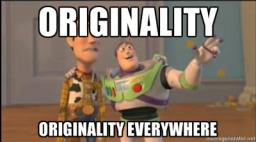 Originality On PMC (DO NOT TAKE LITERALLY) [This is meant as a playful joke] Minecraft Blog