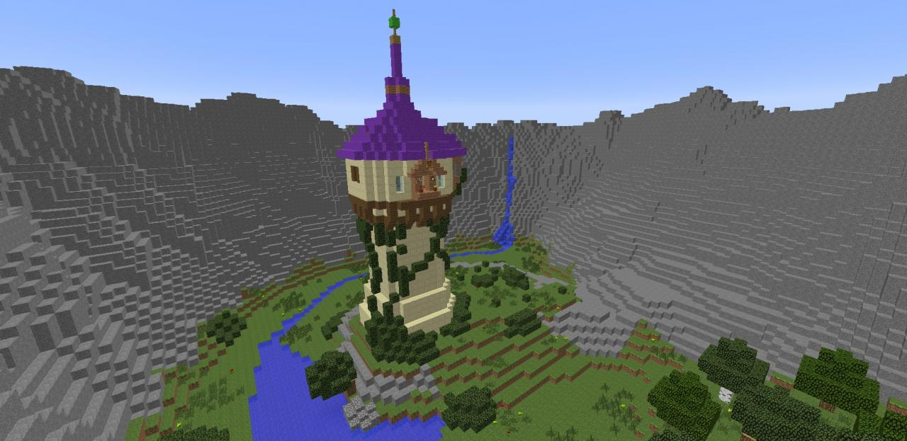 Tangled Tower Minecraft Project