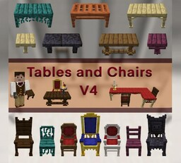 Tables and Chairs V4.3  [ 1.16 + ] - MAJOR Update - Complete Re-write Minecraft Data Pack