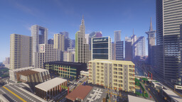 Land of Dieline - Cities and Towns Solo Build (Grassview, Rayoea City, Dieline Bay) Minecraft Map & Project