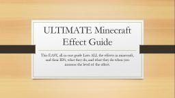 [1.7 or 1.8] ULTIMATE Minecraft Potion Effect Guide Minecraft