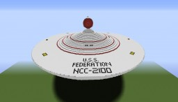 [TOS Federation Dreadnought] USS Federation Minecraft Map & Project