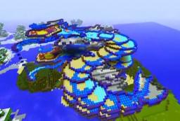3D Pixel Art - Pokemon Waterslide (Gyarados) Minecraft Map & Project