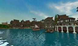 Bathum Port: A Medieval Town {100+ Subs thanks} Minecraft