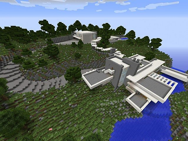 Fallingwater House by Frank Lloyd Wright - Minecraft Forum