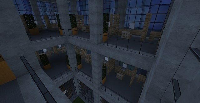 Crystal Modern Office Building Minecraft Project