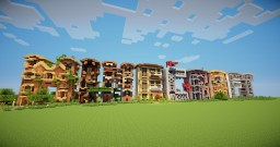 M I N E C R A F T frame houses Minecraft Project