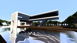 Modern house MAP Minecraft
