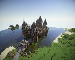 Medieval Town | Survival Spawn | Minecraft