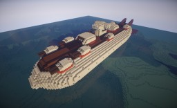 Working Air Battleship: Royal Navy Goliath for Movecraft Minecraft Map & Project
