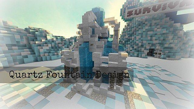 1 7 Quartz Fountain Design Minecraft Map