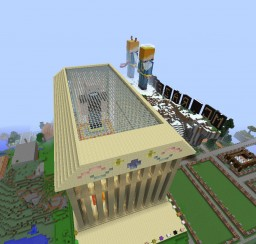 Minecraft Parthenon  with the statue Notch Minecraft Map & Project