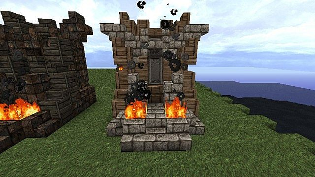 how to make the iron throne in minecraft