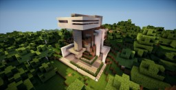 Modern Forest House Minecraft Map & Project