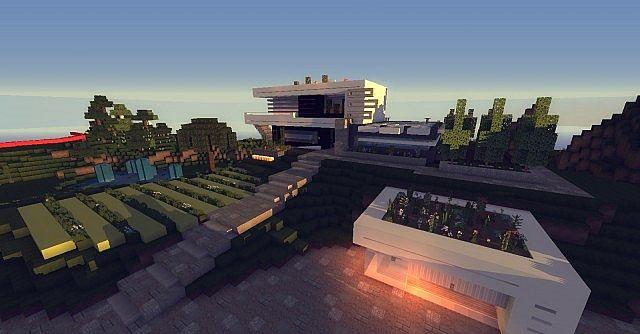 maison ultra moderne 1 Minecraft Project