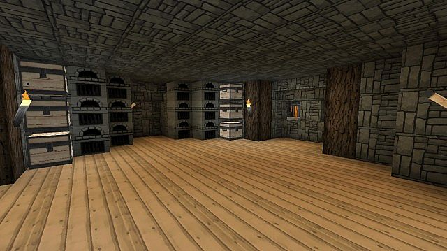 Inside Mountain House Minecraft Map