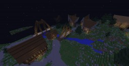 Inspirational medieval/cottage city with mountain Minecraft Project