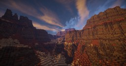 Dry landscape with mesas Minecraft
