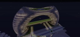 Washington Plaza -- Torus-Shaped Futuristic Building in Neo-Charlotte Minecraft Map & Project