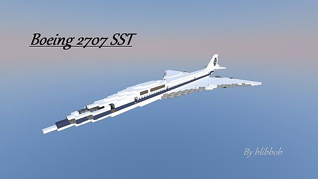 boeing 2707 super sonic transport minecraft project