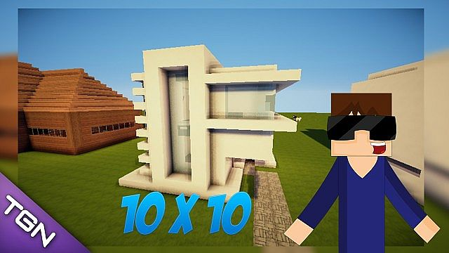 es como hacer una casa moderna de 10x10 minecraft project