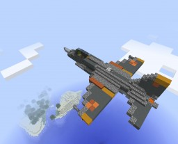 Fighter jet with sounds and working guns Minecraft Map & Project
