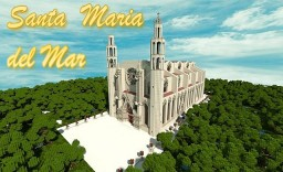 Minecraft Cathedral - Santa Maria del Mar - The Cathedral of the Sea Minecraft Map & Project