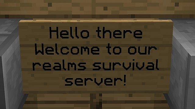 Free Survival Minecraft Realms server OPEN TO ALL! Minecraft Project