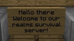 Free Survival Minecraft Realms server OPEN TO ALL! Minecraft Map & Project
