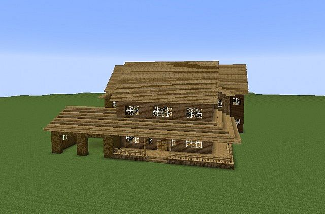 Large American Farmhouse Minecraft Project