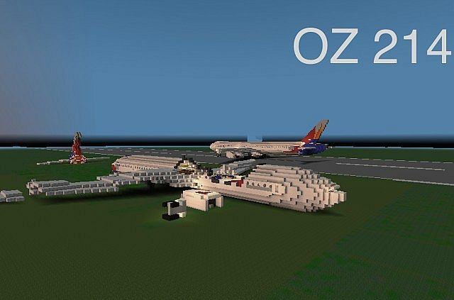 Asiania Airlines Flight 214 Crash Scene Minecraft Project