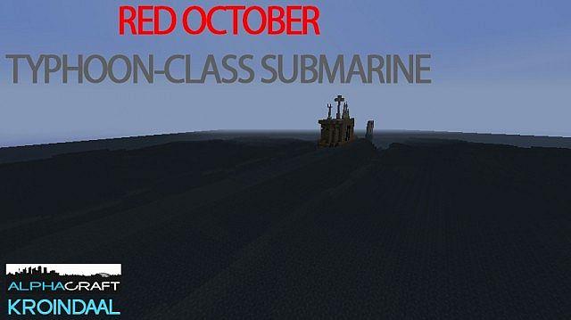 ECS] Red October Typhoon-class submarine Minecraft Project