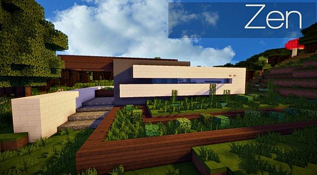 Zen | An organic modern home Minecraft Project