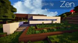 Zen | An organic modern home Minecraft Map & Project