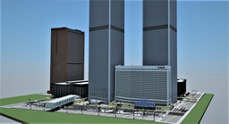 1:1 World Trade Center (Twin Towers New York) Minecraft Map & Project